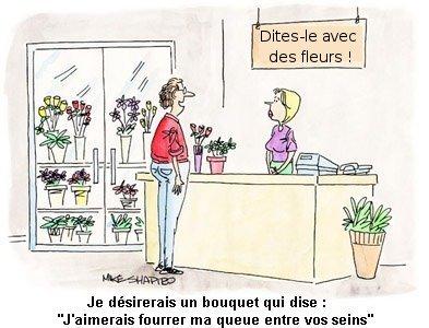 Bric brac d 39 humour fleurs for Bouquet de fleurs humour